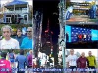 New York Marathon 2016 collage a foto Fabio Marri